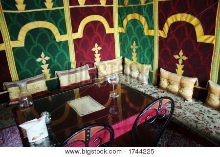 Interior Of A Morrocan Restaurant.