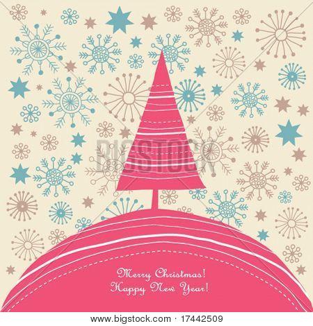 árbol de Navidad, tarjeta de Navidad