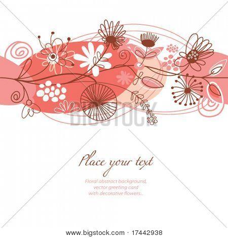 fundo floral, cartão