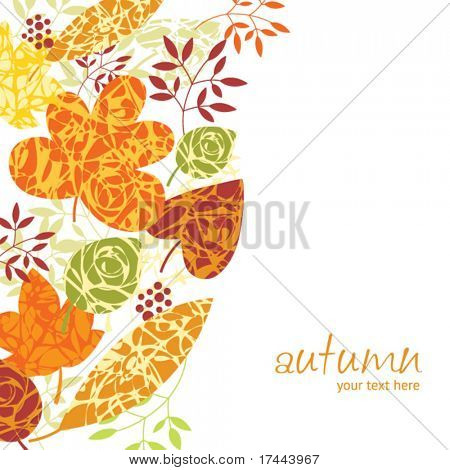 autumn vertical background