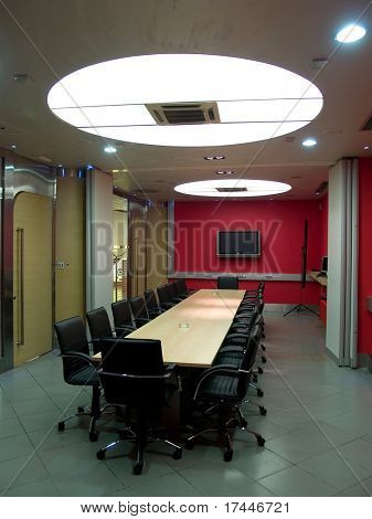 interior of a empty boardroom