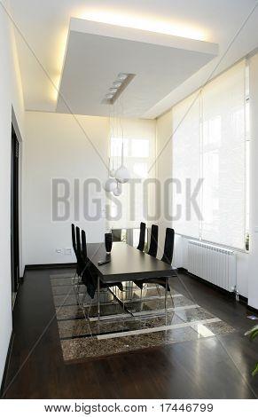 interior of a modern dinning room