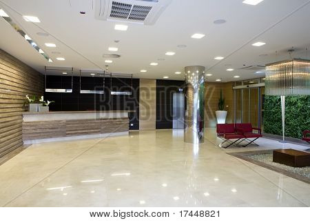 Lobby in modernen Gebäude
