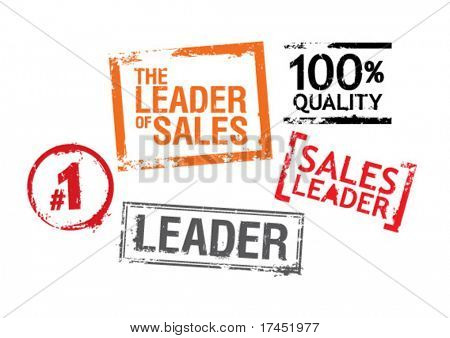 Set of stamps for leaders of sales