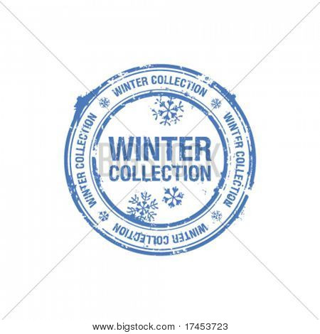 Vektor-Winter-Kollektion-Stempel