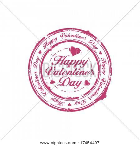 Happy Valentine Day rubber stamp