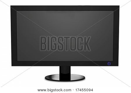 Isolated widescreen TV with clipping path