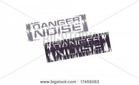 Danger noice vector stamps
