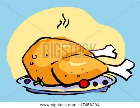 pollo frito caliente