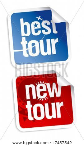 New best tours stickers set