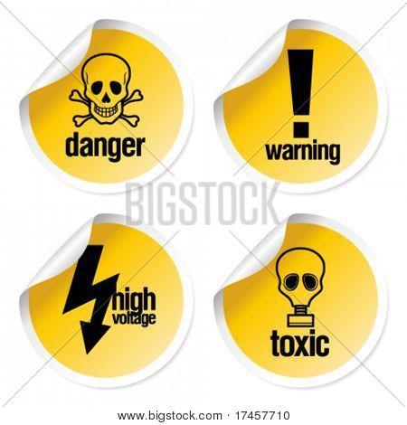 Toxische Vector Aufkleber set