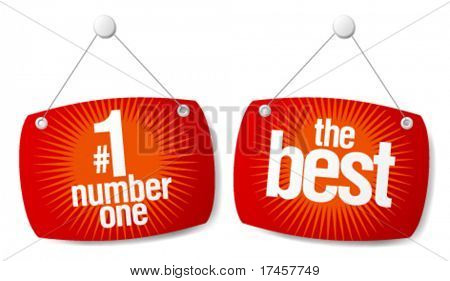The leader of sales best products signs set