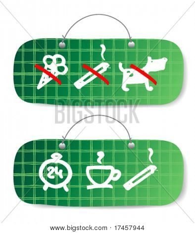 Set of resolving and forbidding signs