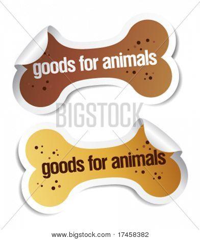 productos para mascotas pegatinas conjunto