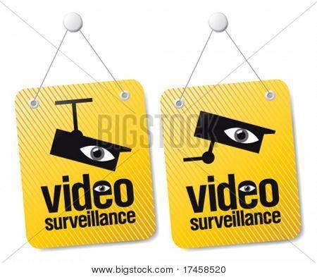 Conjunto de sinais de vídeo-vigilância.