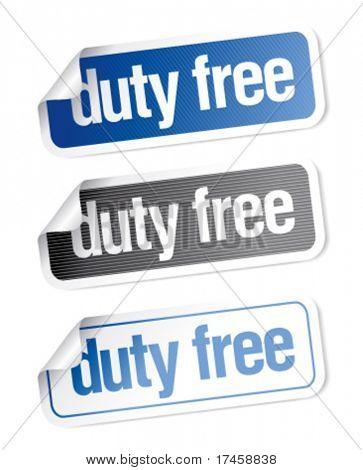 Duty free stickers set
