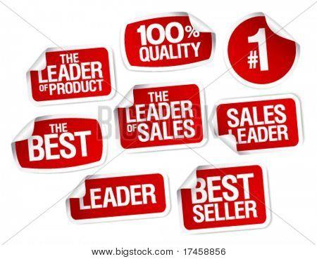 Satz Aufkleber für beste Verkäufe