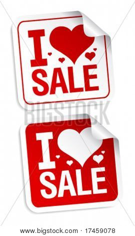 I love sale stickers set.