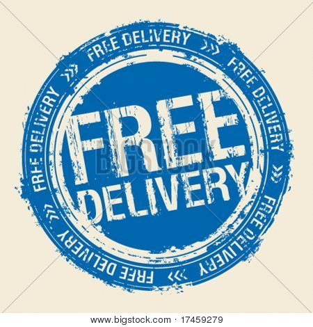 Free delivery vector rubber stamp.
