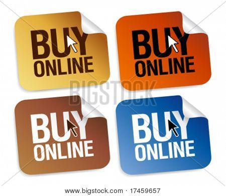 Buy online stickers set.