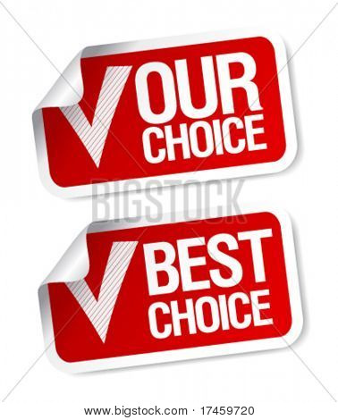 Our choice customers poll stickers set.