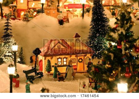 Christmas Village Miniature Houses