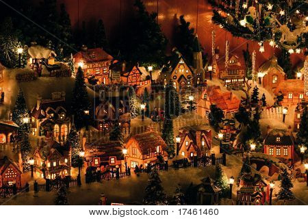 Christmas Village Miniature Houses