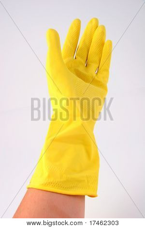 Latex cleaning glove