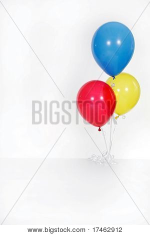 Studio Birthday Balloons Present Gift Themed Isolated on White Fantasy Bird Nest With Eggs Background Photo Prop (Insert Your Client!)