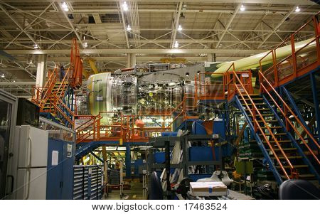 Inside Aerospace Manufacturing Facility Plant