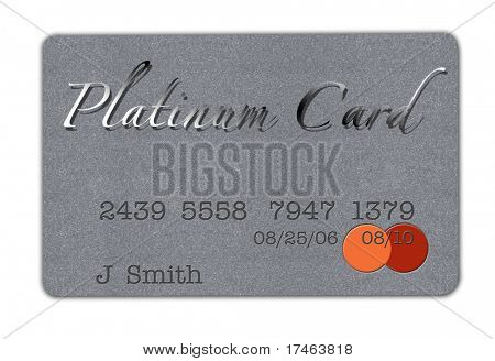 Platinum Credit Card on White