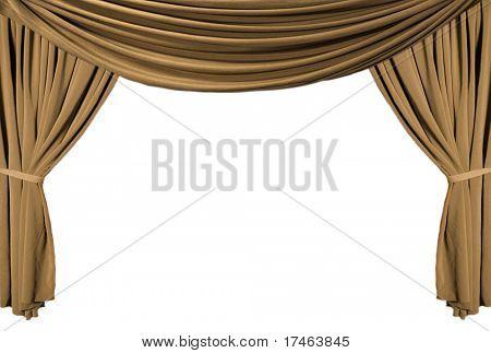 alte altmodische, elegante Theater Bühne mit gold Samtvorhänge.