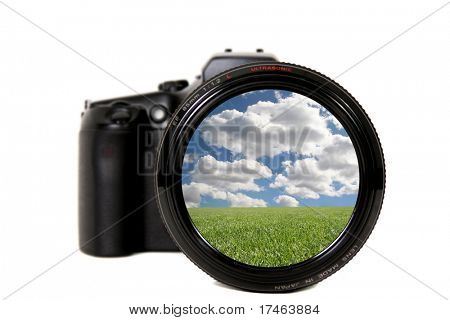 Beautiful Landscape Viewed Through a Camera Lens