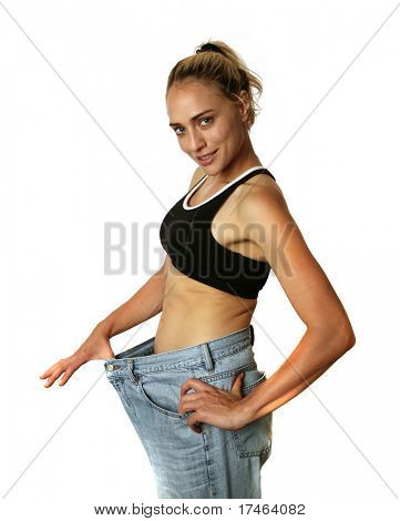 Successful Woman Who Lost a Lot of Weight on White