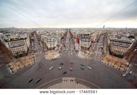 Avenue Marceau, avenue des Champs-Elysees, boulevard Haussmann