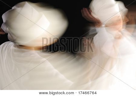 Beautiful sensual attractive white sufi dancing  women