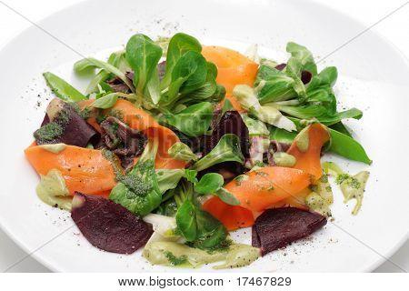 Vegetables, roe meals, greens.