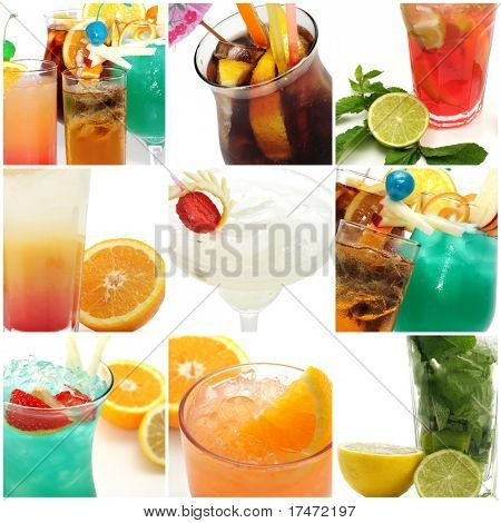Collage from Photographs of Cocktail
