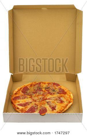Pizza en caja