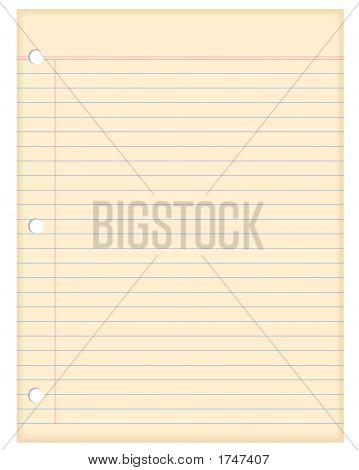 Jahrgang leere Briefpapier