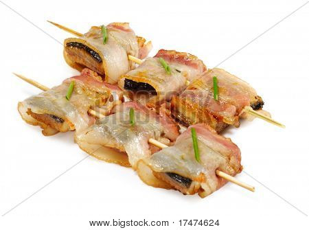 Japanese Cuisine - Smoked Conger Wrapped in Bacon