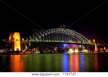 Sydney Harbour Bridge At Night..