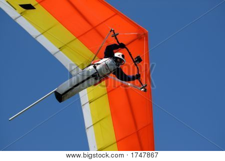 Yellow-Red Hang-Glider