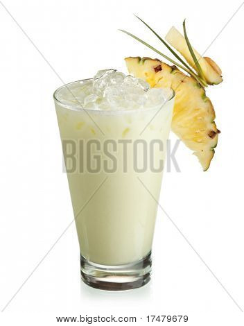 Alcoholic Cocktail - Midori with Rum, Colada, Pineapple and Cream