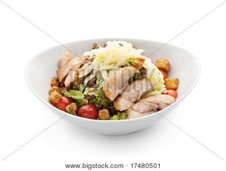 Caesar Salad with Chicken Fillet and Parmesan Cheese