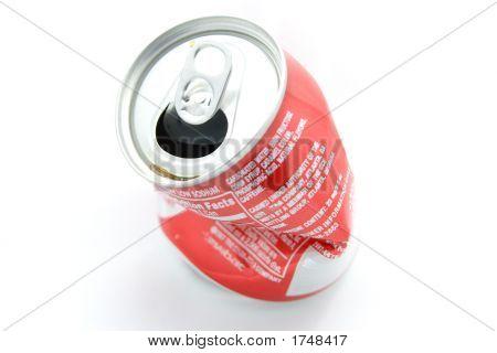 zerkleinerte Soda can