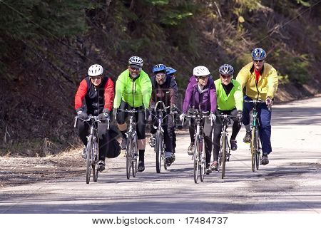Group Of Bike Riders.