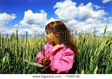 Girl in the wheat
