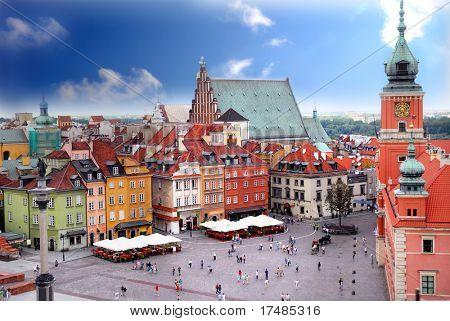 Vista del castillo real de Varsovia Polonia