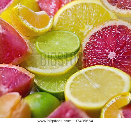 Mixed citrus fruit